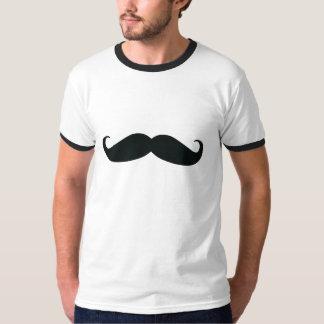 Camiseta del campanero del bigote de los hombres poleras