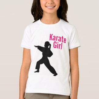 Camiseta del campanero del chica del karate
