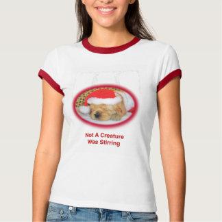 Camiseta del campanero del golden retriever de las