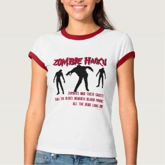 Camiseta del campanero del Haiku del zombi Camisas