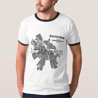 Camiseta del campanero del mapa de Amsterdam Camisas