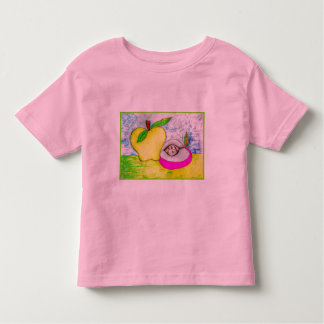 Camiseta del campanero del niño de las manzanas playeras