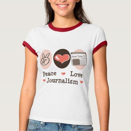 Camiseta del campanero del periodismo del amor de playera