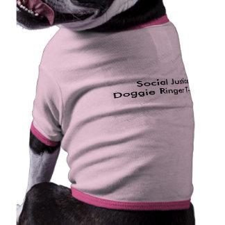 Camiseta del campanero del perrito de la justicia camisa de perro