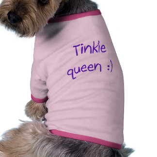 Camiseta del campanero del perrito de la reina del camisa de perro