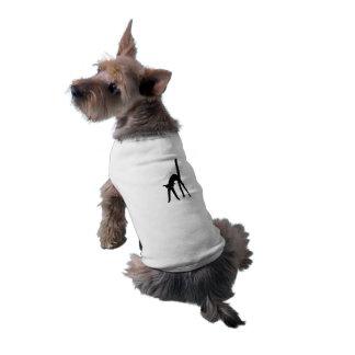 Camiseta del campanero del perrito del gato negro playera sin mangas para perro