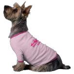 Camiseta del campanero del perrito - rosa ropa de perro