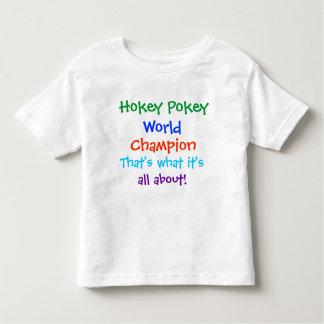 Camiseta del campeón del mundo del Pokey de Hokey Playera