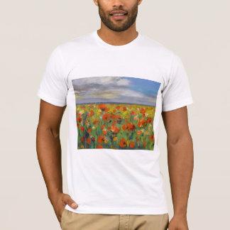 Camiseta del campo de la amapola