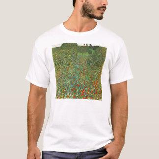 Camiseta del campo de la amapola de Gustavo Klimt
