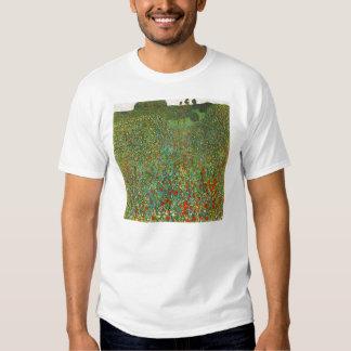 Camiseta del campo de la amapola de Gustavo Klimt Playera