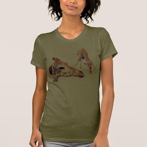 Camiseta del camuflaje de la jirafa