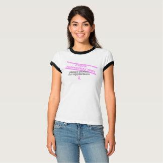 Camiseta del cáncer de pecho bajo reconstrucción poleras