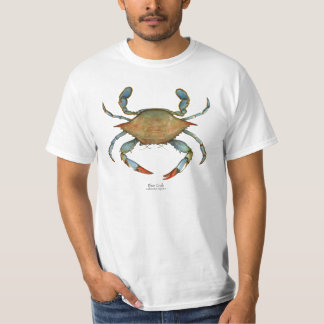 Camiseta del cangrejo azul