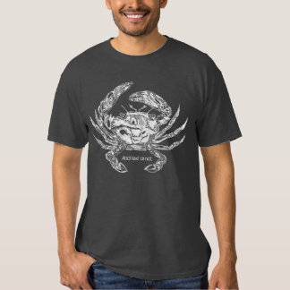 Camiseta del cangrejo con la opción del texto polera