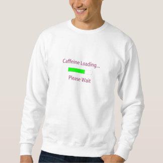 Camiseta del cargamento del cafeína sudaderas encapuchadas