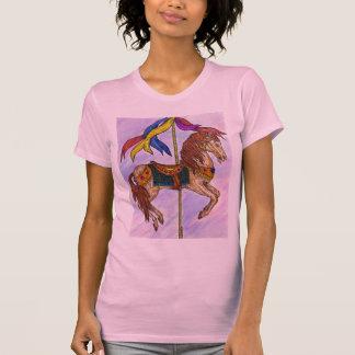 Camiseta del carrusel de las señoras playera