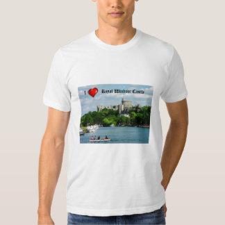 Camiseta del castillo de Windsor del corazón I Polera