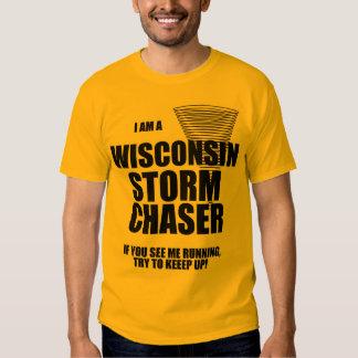 Camiseta del cazador de la tormenta del tornado de camisas