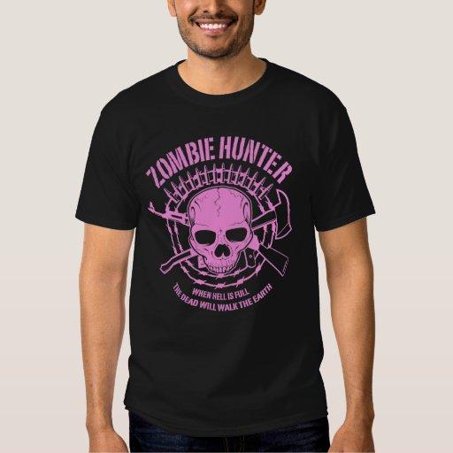 Camiseta del cazador del zombi playera
