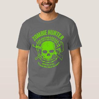 Camiseta del cazador del zombi polera