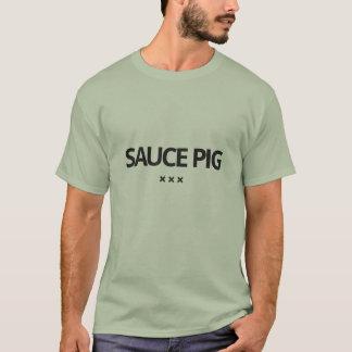 Camiseta del cerdo de la salsa por la piel de