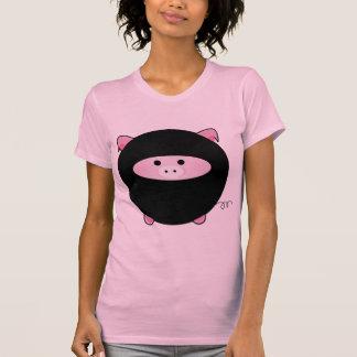 Camiseta del cerdo de Ninja
