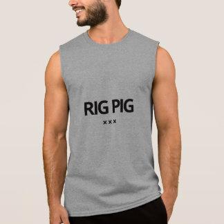 Camiseta del cerdo del aparejo por la piel de cerd playera sin mangas