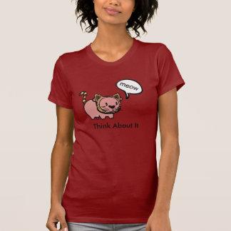Camiseta del cerdo del maullido