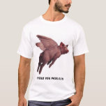 Camiseta del cerdo del vuelo