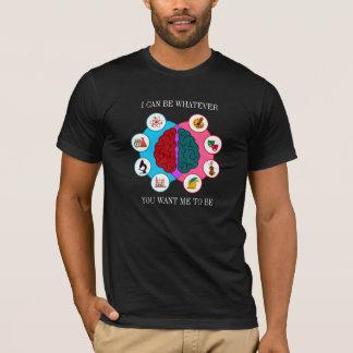 Camiseta del cerebro izquierdo del cerebro derecho