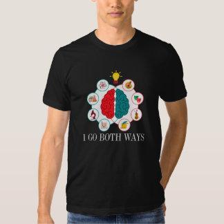 Camiseta del cerebro izquierdo del cerebro derecho playeras
