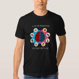 Camiseta del cerebro izquierdo del cerebro derecho remeras