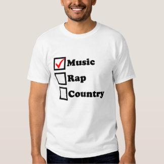 Camiseta del Checkbox del país del rap de la Polera