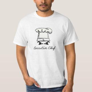 Camiseta del chef ejecutivo poleras