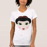 Camiseta del chica de geisha