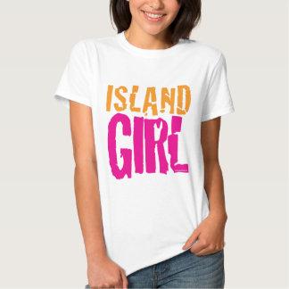 Camiseta del chica de la isla playera