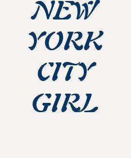 """Camiseta del chica de New York City"" Playera"