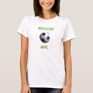 Camiseta del chica del fútbol