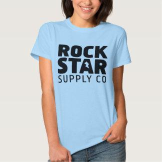 Camiseta del chica del logotipo de la fuente de la polera