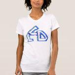 Camiseta del chica del logotipo del LCD