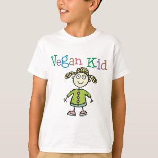 Camiseta del chica del niño del vegano