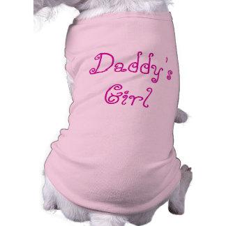 Camiseta del chica del papá para el perro del papá camisas de mascota