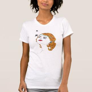 Camiseta del chica y de los pájaros