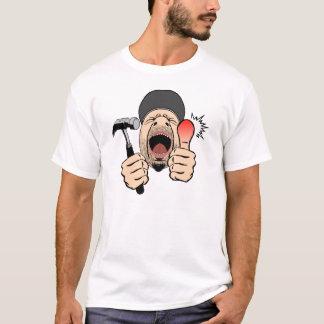 Camiseta del choque del martillo