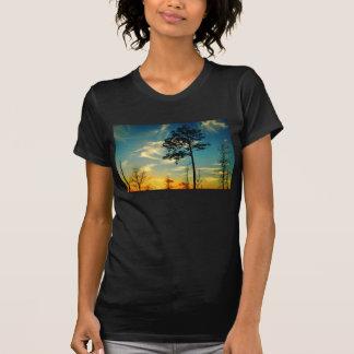 Camiseta del cielo de la puesta del sol playera