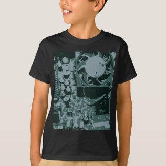 Camiseta del circuito de la placa madre polera