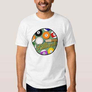 Camiseta del círculo del billar de los hombres playeras