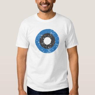 Camiseta del círculo del Grunge Poleras