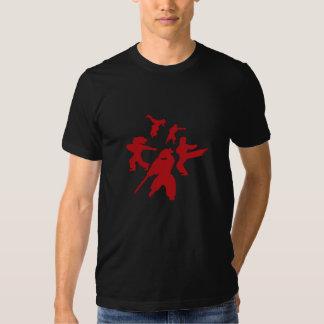 Camiseta del círculo que lucha playeras